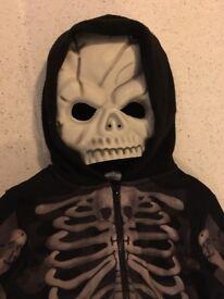 Boys Halloween skeleton costume, 3-4 years