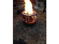 Up cycled fire pits