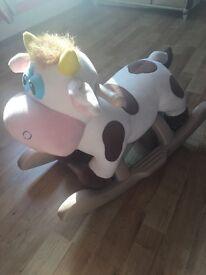 Rocking cow sit on rocker Baby/toddler