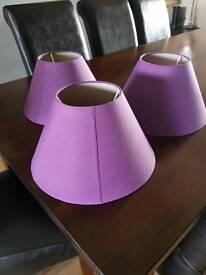 Three Purple Lampshades Medium