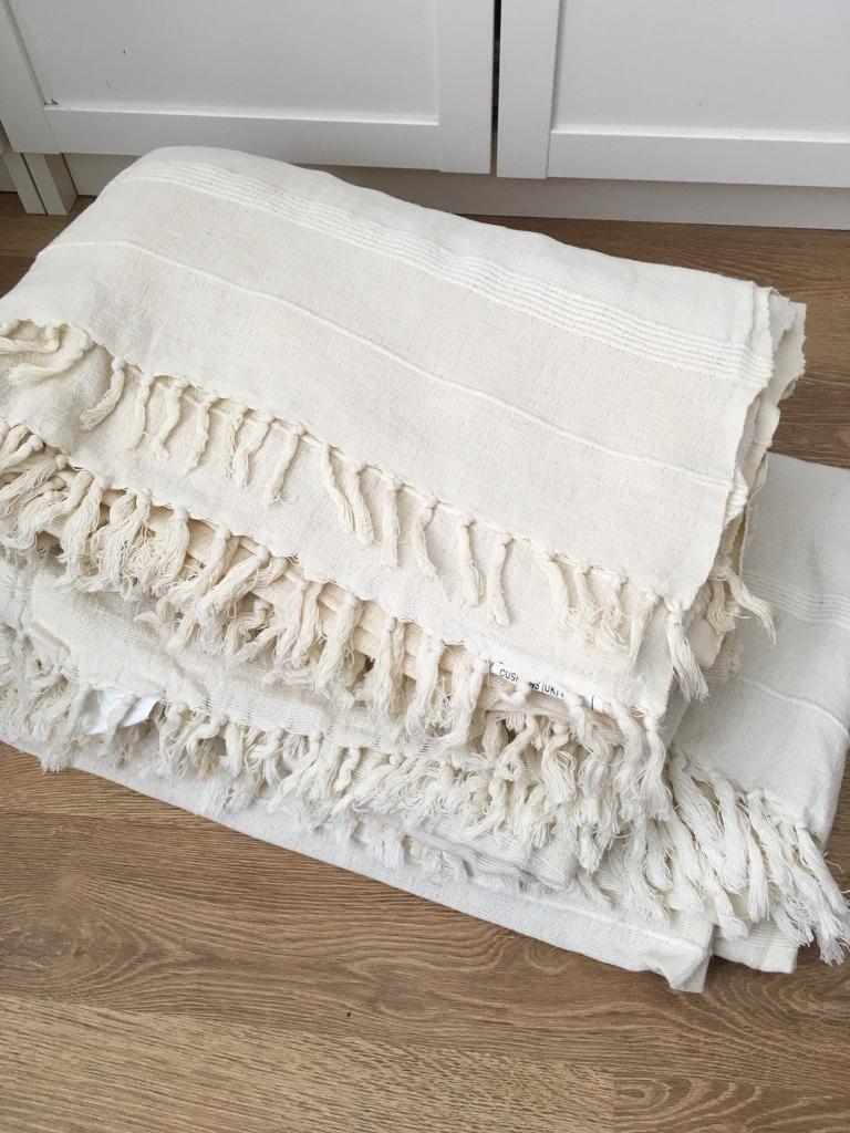 Cotton Throws For Sofas Natural Cotton Sofa Throw