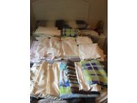 Bed Linen - Good condition ex holiday let, King size and single Duvet covers, pillowcases and sheets