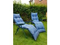 Garden sun loungers/ chair recliners