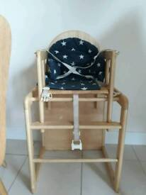 Baby high chair and table