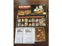 H.M.S BOUNTY . 1:50 SCALE WOODEN BOAT KIT WITH ALL BRASS / WOOD FITTINGS . BRAND NEW