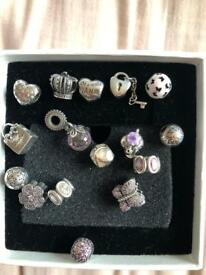 Various genuine pandora charms