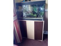 125 Ltr Aquarium with Cabinet and Filter