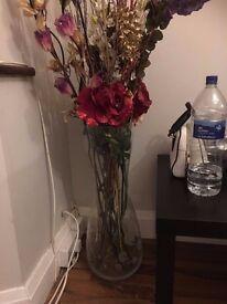 Flower tall floor vase