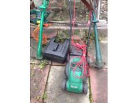 Qualcast mower, strimmer, hedge cutter