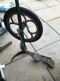Old dentist pedal and wheel ..