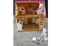 Sylvanian families cottage home with extra bits