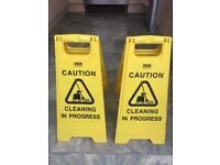 Cleaning Signs x 2