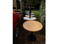 Ten Round Heavy Metal Based Cafe Tables - Ideal for Cafe, Bar, etc - 750mm Diameter