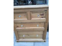 MEXICAN PINE 2 PLUS VERY DEEP DRAWER CHEST OF DRAWERS VGC