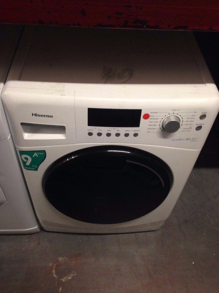 HISENSE 9KG WASHING MACHINE WHITE RECONDITIONED