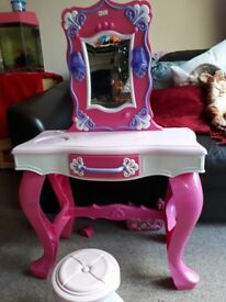Childrens dressing table with stool