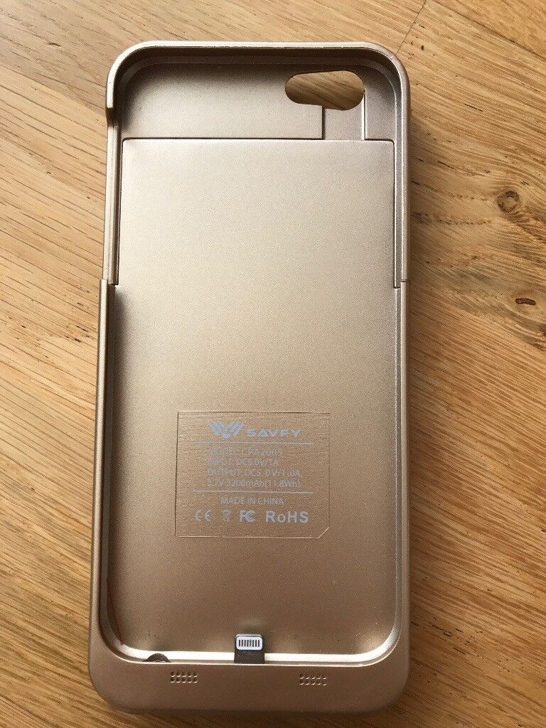 Battery Case for iPhone 6/6s in Gold by SAVFY