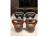 York Fitness Vinyl Kettlebells (2 x 8kg, 2 x 12kg, 2 x 20kg RRP £180