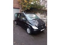 Mercedes Vito Xtra Long, 9 Seater, Black, Leather, Automatic