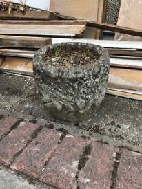 Small Decorative Stone/Concrete Plant Pots