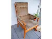 Vintage mid century retro 60s/70s armchair, G Plan era Parker Knoll style chair, London British made