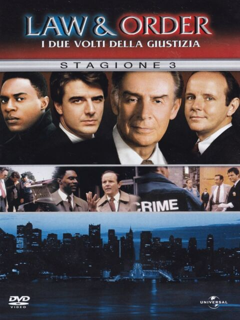 Law and Order Complete Season 3 DVD Box Set NBC Series Brand New UK 3rd Third