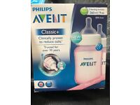 5x2 avent pink babys bottles brand new in box