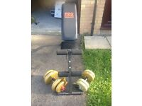 Pro Power adjustable weight bench and weights