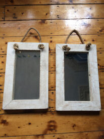 Reclaimed wood mirrors x2