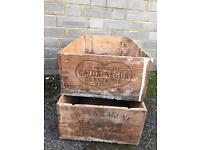 VINTAGE WOOD BOXES FREE DELIVERY STORAGE