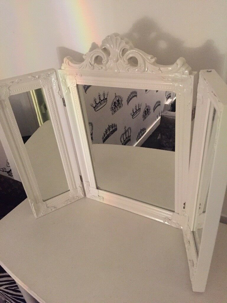 Shabby chic dressing table mirror
