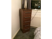 2 x 3 Drawer Bedsides 1 x 3 drawer chest and 1 x 5 drawer tall
