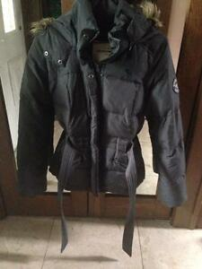 Girls Abercrombie XL(size 12-14) Grey Blythe Parka Winter Jacket