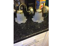 Free to collect. Pair of wall lights PROMISED