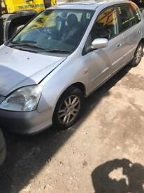 Honda Civic 1.4 vtec ( breaking full vehicle for parts)
