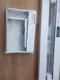Ikea grundtal brand new loo roll and 40cm stainless steel double towel rail