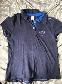 Equestrian blue top