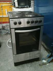 Bush silver freestanding cooker