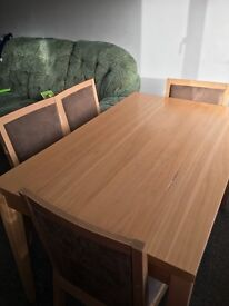 Wooden dining table - 4 seater