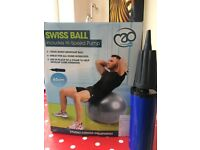 Silver Swiss Ball 65cm, hi-speed pump included