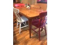 Small farmhouse table with 4 chairs