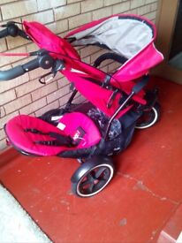 Red plam double for 2 kids. Very new only used for one month and price is £500. Model phil & teds.