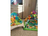 Baby chair and play Mat fisher price