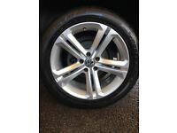"4 X Genuine VW Volkswagen Tiguan 18"" inch MALLORY R-Line alloy wheels & Dunlop Tyres"