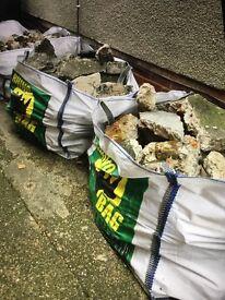Freebies Builders rubble in 3 strong builders Rhino bags