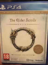 PS4 The Elder scrolls Online (no game subscription required)