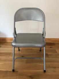 Four Habitat Metal Folding Chairs