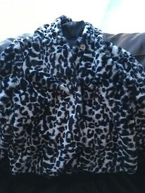 Girls leopard print coat 2-3 years
