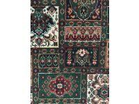 Bound edged Wilton rug 10ft 6 x 9ft.