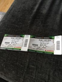 2 tickets for Ireland vs South Africa 11th Nov west stand upper £150 for both